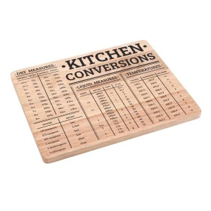 Kitchen conversions wooden chopping board