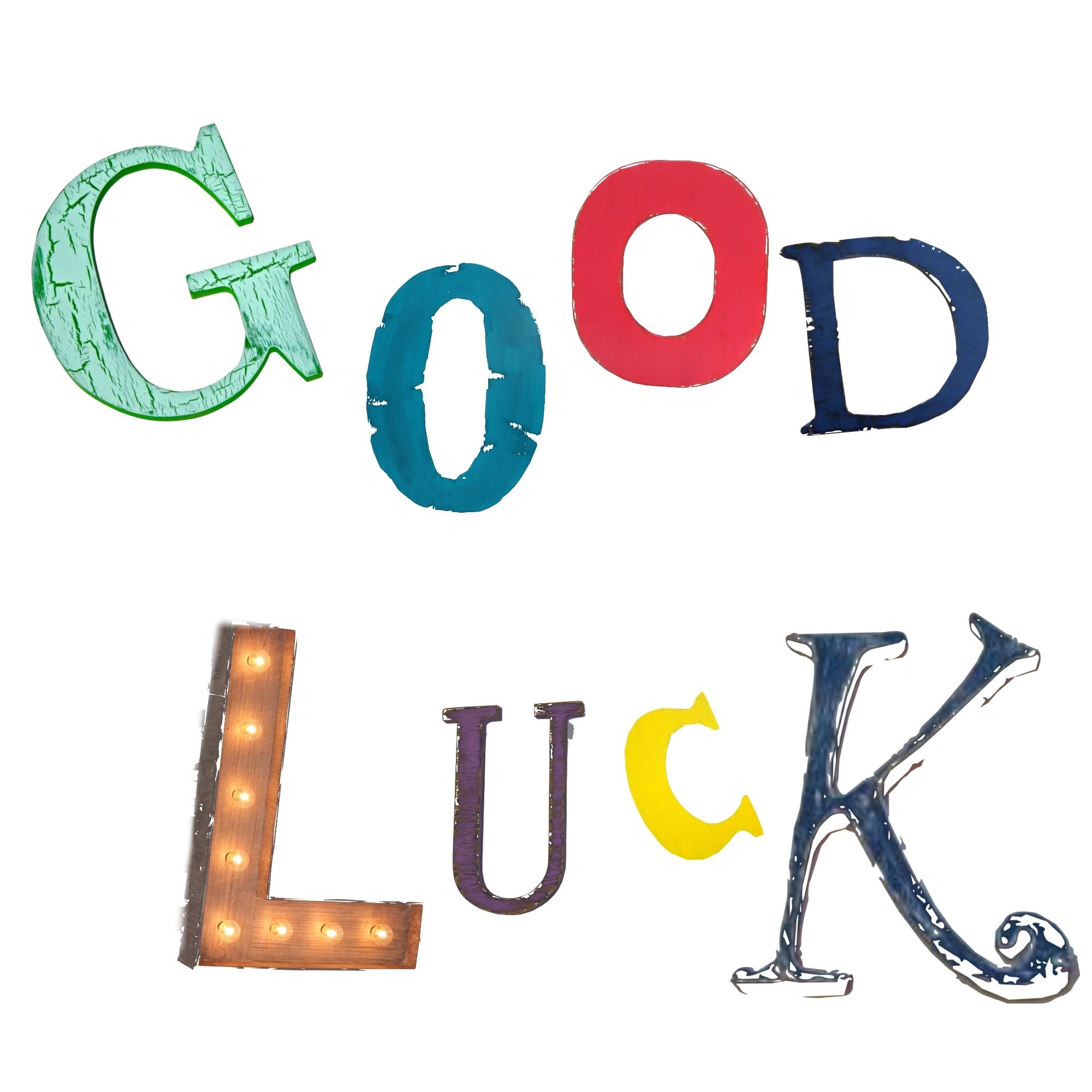 Good luck card kslgl unique one off cards and prints at the good luck card kristyandbryce Image collections
