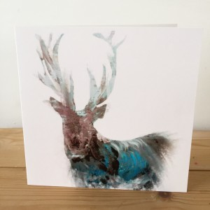 The Steel Rooms Blue Stag Card JSWC10