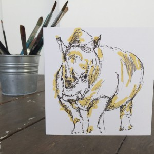 The Steel Rooms Rhino Card by Emma Roberts
