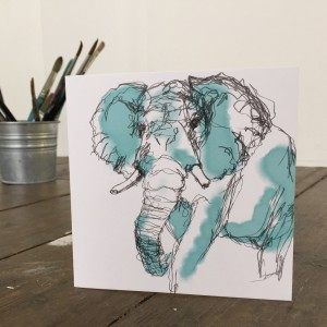 The Steel Rooms Elephant Card by Emma Roberts