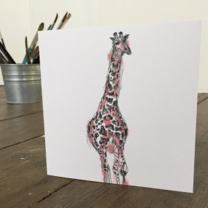 The Steel Rooms Giraffe Card by Emma Roberts