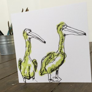 Pelican card by Emma Roberts for The Steel Rooms