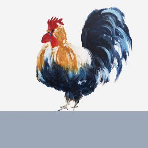 The Steel Rooms Colour Boarder Cockerel Card